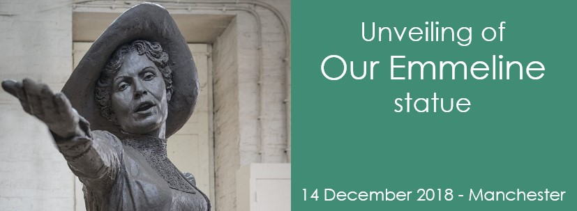 Unveiling of Our Emmeline statue event 14 December 2018 Manchester