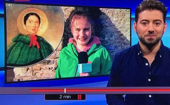 Evie and the Mary Anning statue campaign on CBBC Newsround