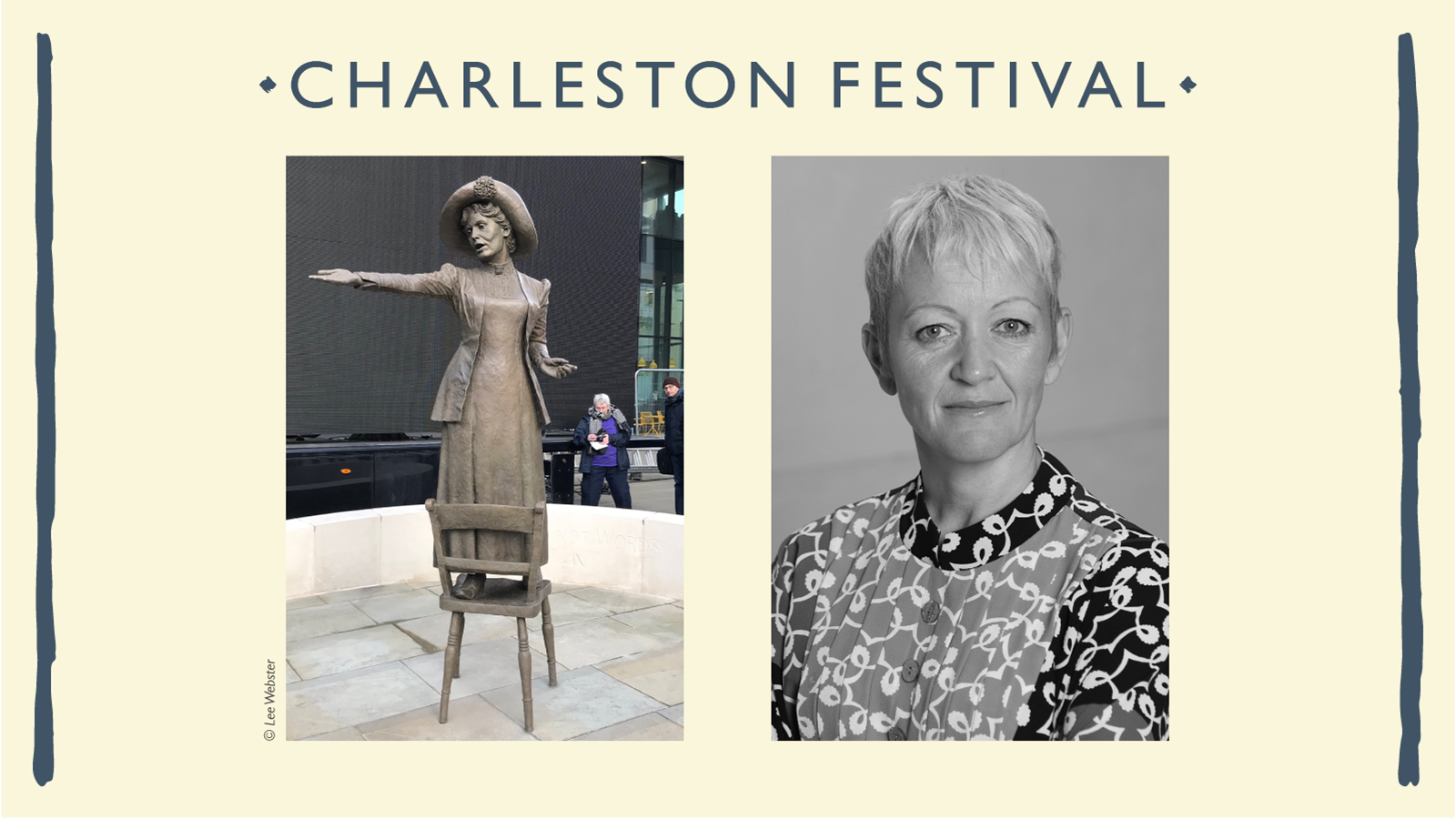 Hazel speaks at Charleston Festival