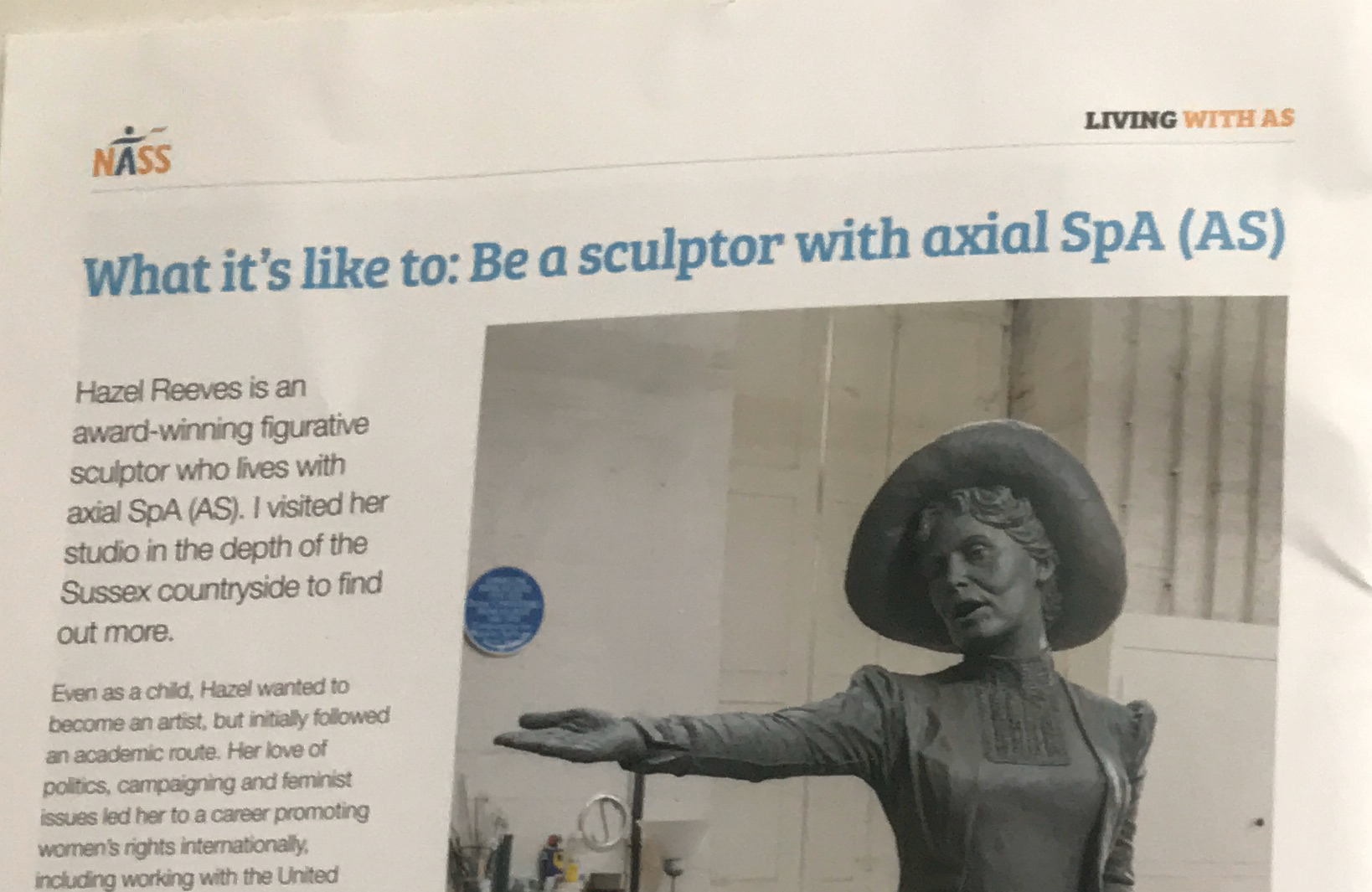 Hazel featured in AS News