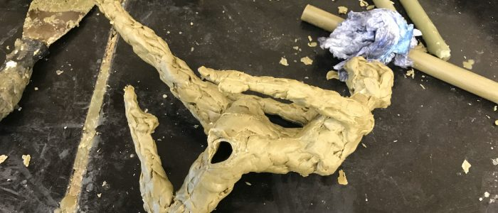 Experimentation in wax at Bronze Age - by sculptor Hazel Reeves