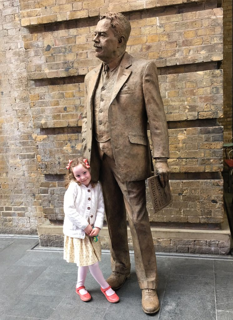 Bessie and Sir Nigel Gresley, King's Cross Station, bronze - photo by Andy Fallon