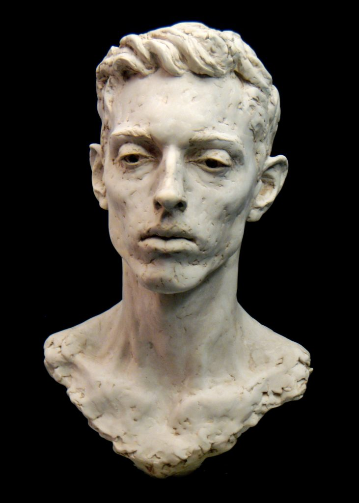 Photo of the portrait sculpture of Adam by Hazel Reeves