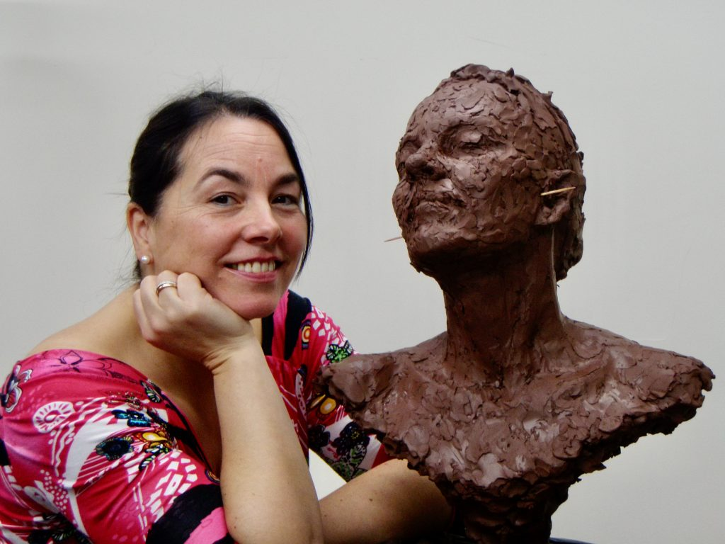 Jennifleur - work-in-progress - sculpture by Hazel Reeves
