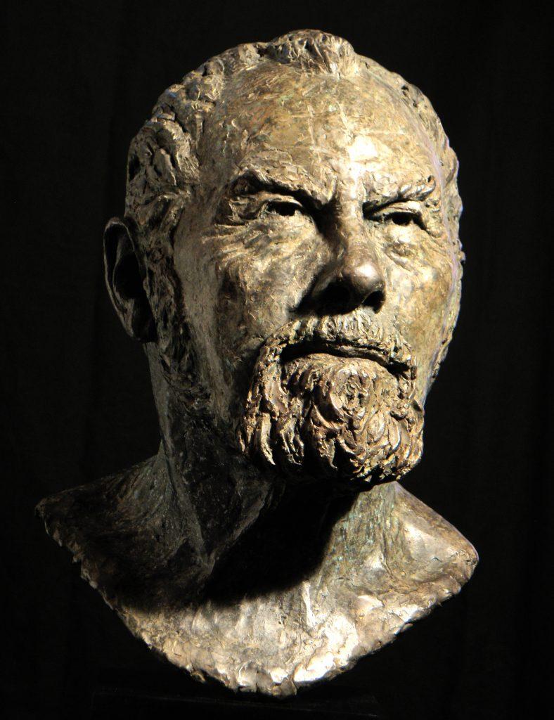 Sir John, bronze - by Hazel Reeves